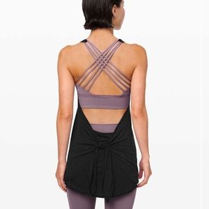 NWOT Lululemon Tied in Energy 2-in-1 Mulberry Tank